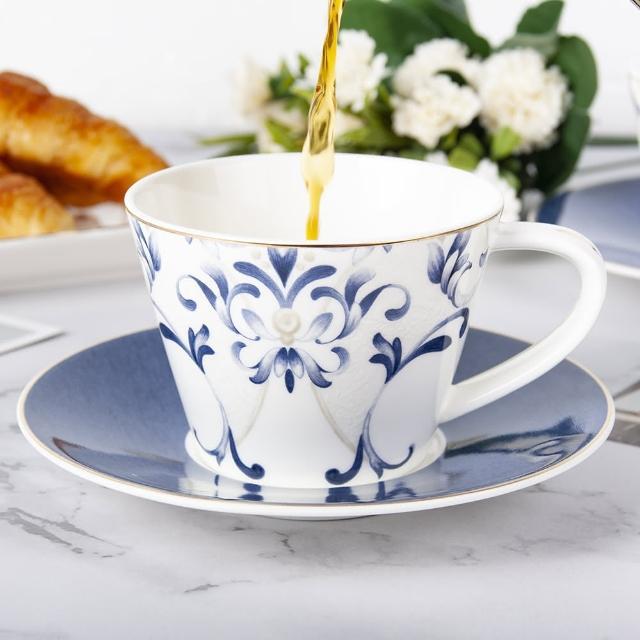 【Royal Duke】骨瓷咖啡杯組-藍鐵藝(兩杯兩碟咖啡杯組)