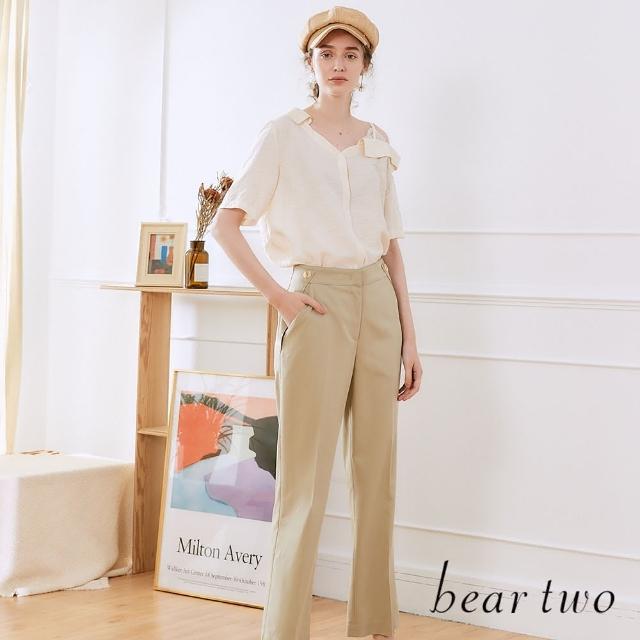 【bear two】全長寬口西裝褲(兩色)