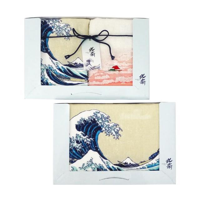 【Marushin 丸真】北齋毛巾三件組禮盒