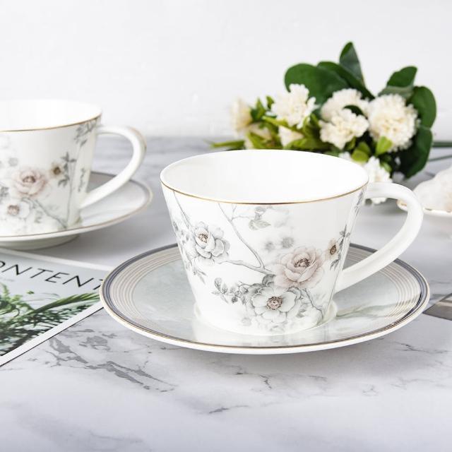 【Royal Duke】骨瓷咖啡杯組-薔薇園(兩杯兩碟咖啡杯組)