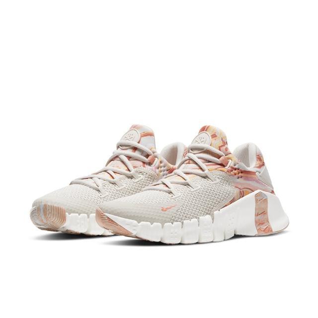 【NIKE 耐吉】訓練鞋 女鞋 運動鞋 健身 重訓 支撐 W NIKE FREE METCON 4 米白粉 DJ3075-064
