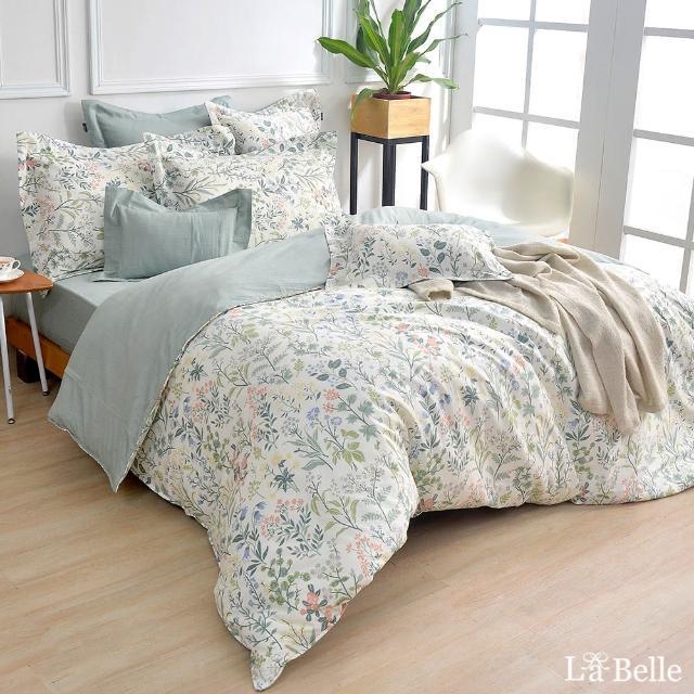 【La Belle】100%精梳棉防蹣抗菌兩用被床包組-雙人(多款任選)