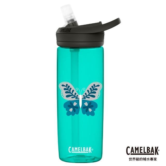 【CAMELBAK】600ml eddy+多水吸管水瓶 花卉蝴蝶(CB2266301160/戶外/日常)