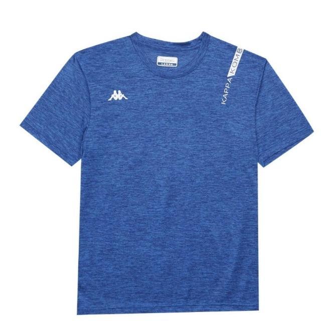 【KAPPA】義大利 時尚舒適型男吸濕排 圓領衫(義大利藍麻花 33162QWX7F)