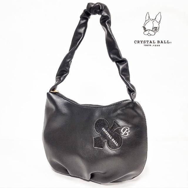 【CRYSTAL BALL 狗頭包】Crumply handle DIAMOND CLOVER bag時尚小包(狗頭包)