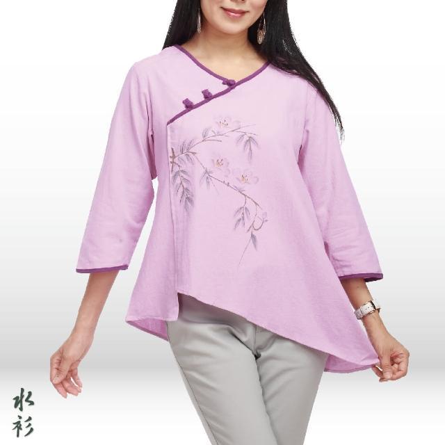 【水衫】素雅手繪七分袖上衣三件組(J03-82)