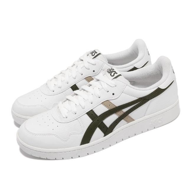 【asics 亞瑟士】休閒鞋 Japan S 復古 男鞋 亞瑟士 皮革鞋面 板鞋 穿搭推薦 白 綠(1191A212103)