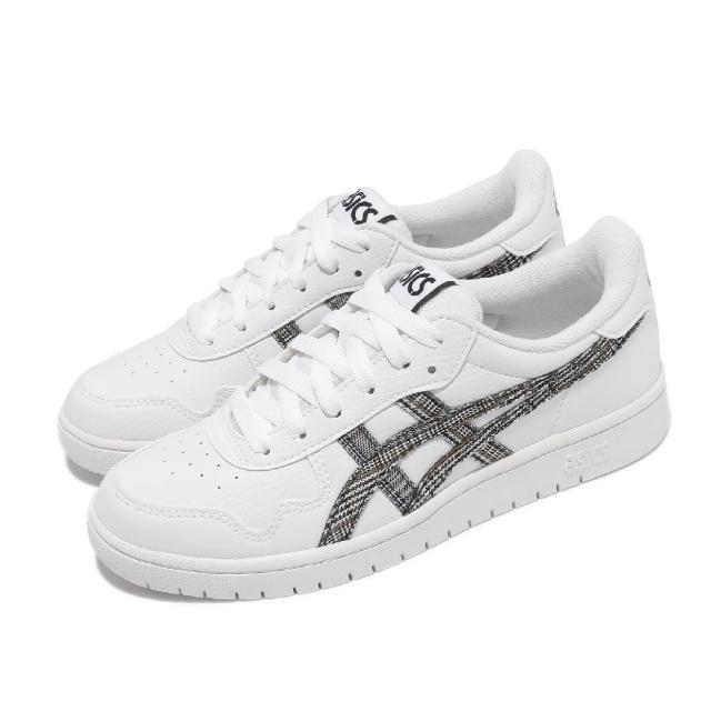 【asics 亞瑟士】休閒鞋 Japan S 復古 女鞋 亞瑟士 皮革鞋面 板鞋 穿搭推薦 白 黑(1192A220100)