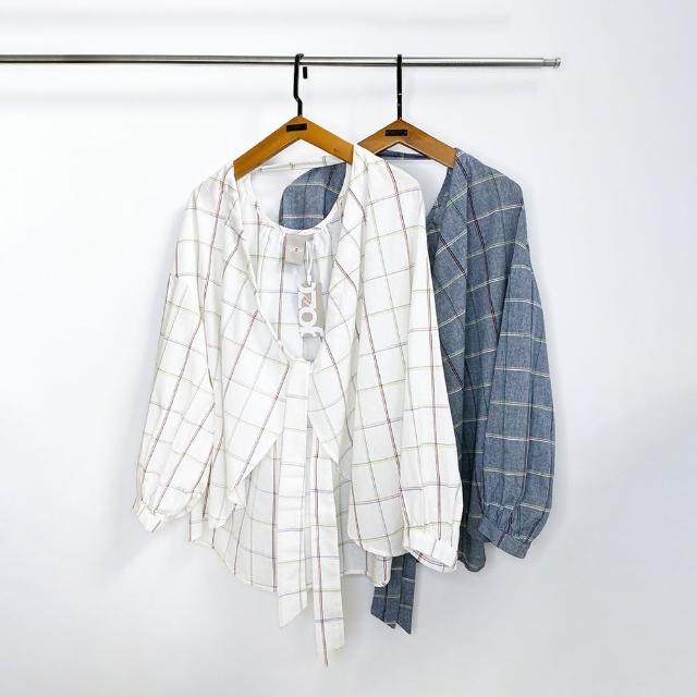 gozo【gozo】格紋兩面穿罩衫(兩色)