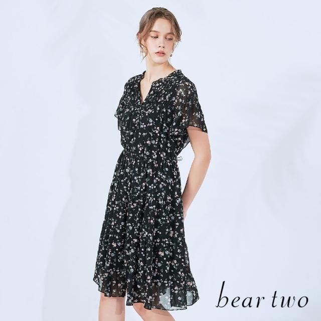 【bear two】法式浪漫花卉長洋裝(兩色)