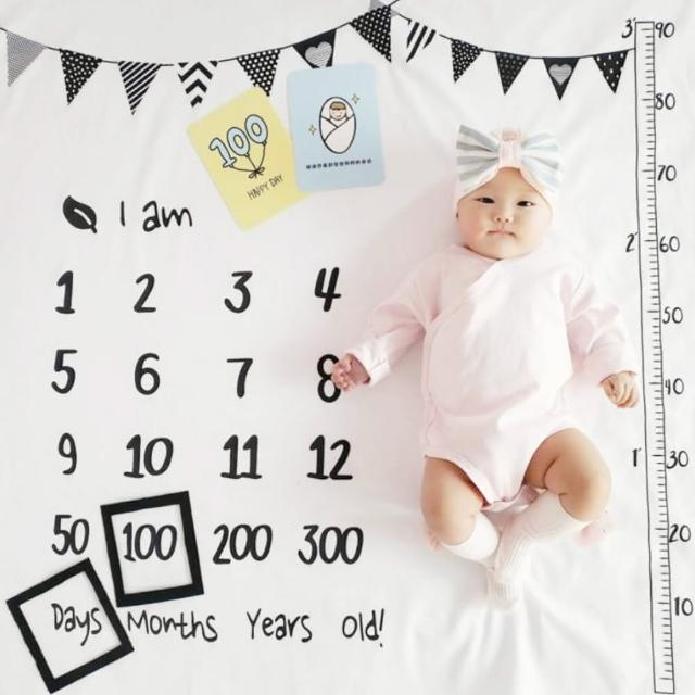 【橘魔法】寶寶創意月齡年齡拍照道具背景布(滿月 新生兒 兒童房 禮物 攝影)