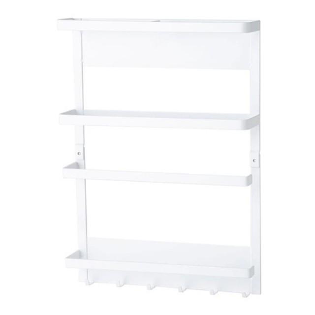 【NITORI 宜得利家居】磁吸式冰箱用置物架 FLAT WH(置物架 收納架)