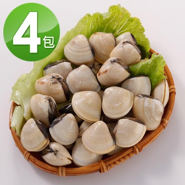 【華得水產】越南白玉文蛤4包組(500g/包)