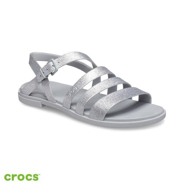 【Crocs】女鞋 特蘿閃亮度假風涼鞋(206737-0IC)