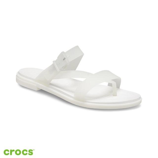 【Crocs】女鞋 特蘿透明度假風涼鞋(207173-159)