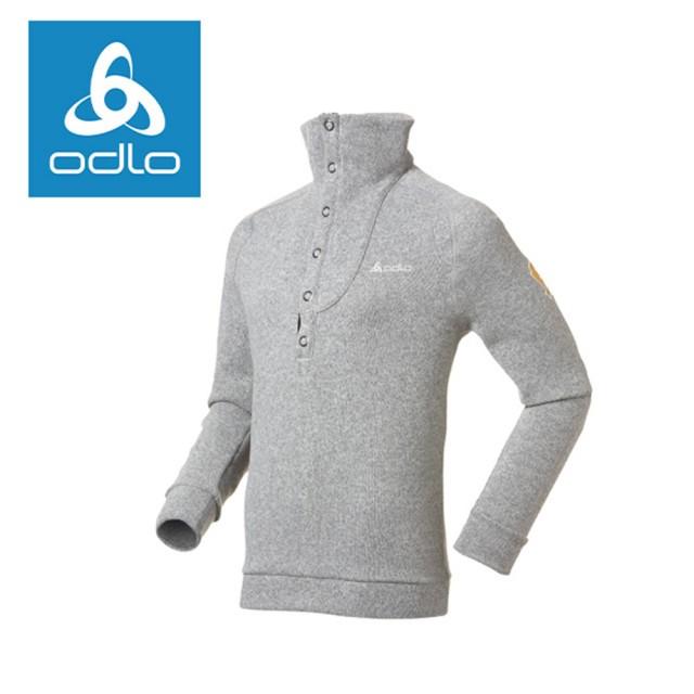 【ODLO】男半門襟長袖加厚保暖衫 220602-15700深麻灰(ODLO)