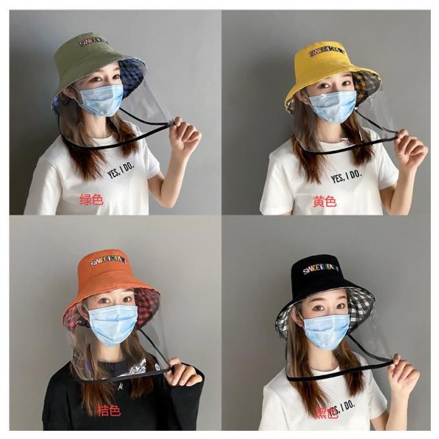 【HaNA 梨花】安全出行復工上班坐捷運.雙面格紋SWEET漁夫帽防疫帽