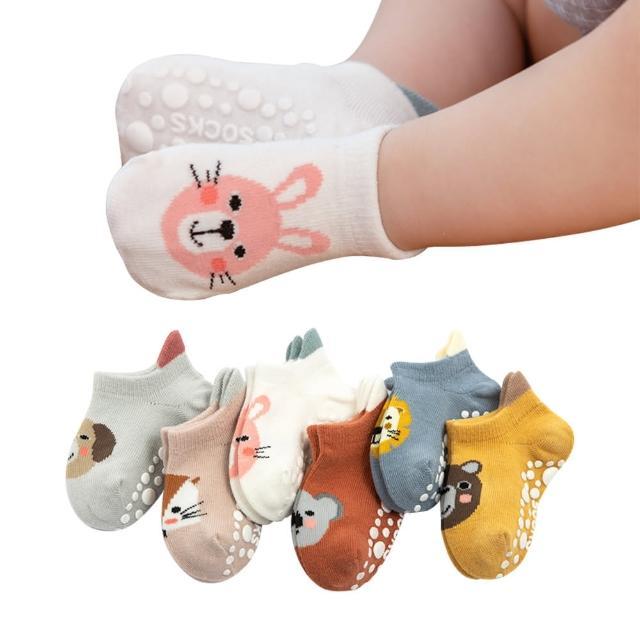 【JoyNa】5入-嬰兒襪 薄棉大後跟防滑童襪 襪子