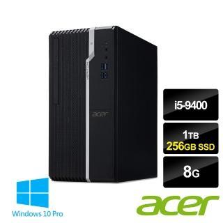 【+微軟Microsoft 365】Acer VS2665G i5商用電腦(i5-9400/8G/1TB HDD+256G SSD/WIN10Pro)