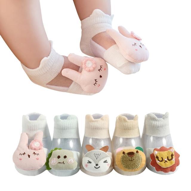 【JoyNa】2雙入-嬰兒襪 冰絲公仔襪 薄棉童襪 寶寶室內襪
