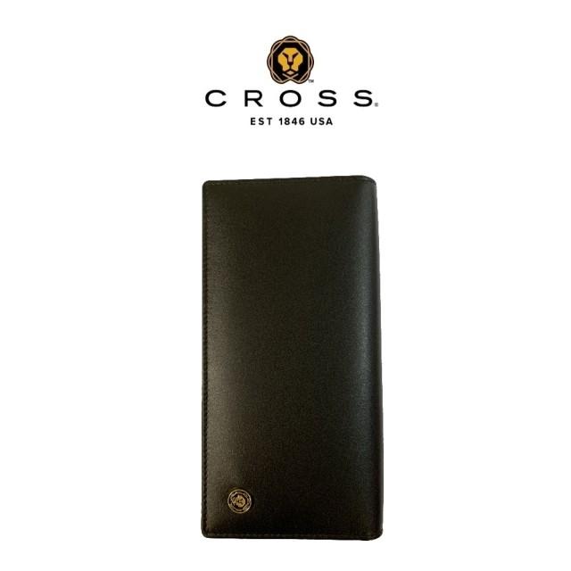 【CROSS】頂級NAPPA小牛皮22卡1零錢袋長夾 洛非諾系列系列(黑色)