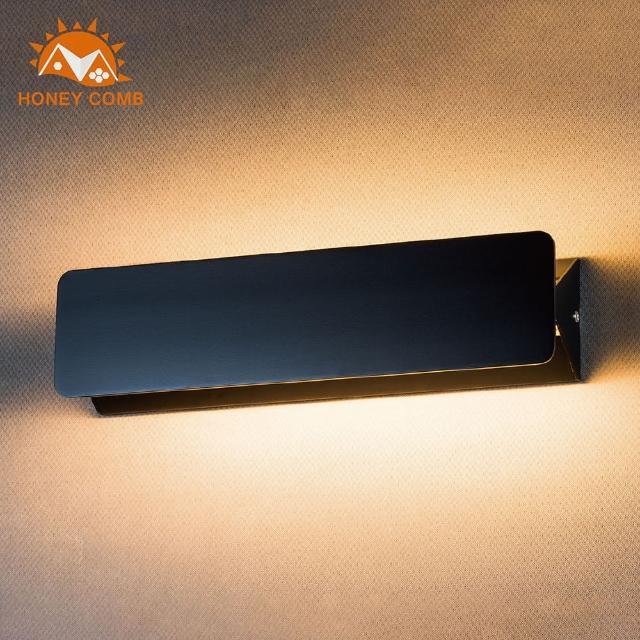 【Honey Comb】極簡風壁燈-黑色款(BL-31992)
