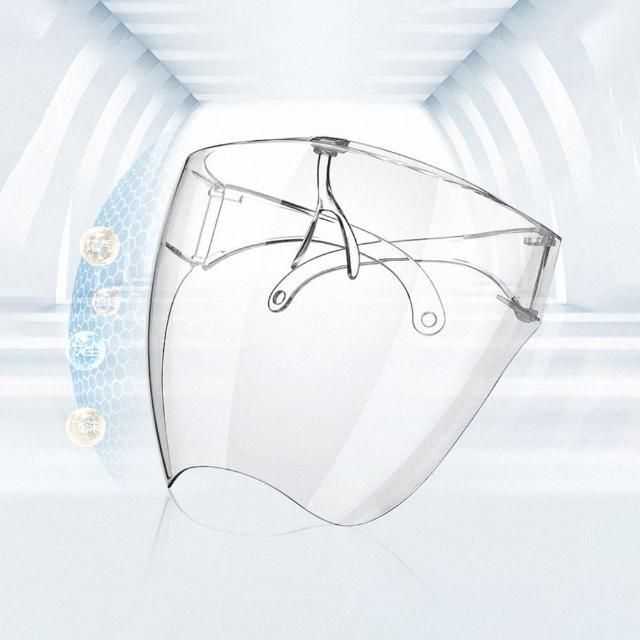 【全方位防護】透明防護面罩 - 成人款(清晰不起霧)