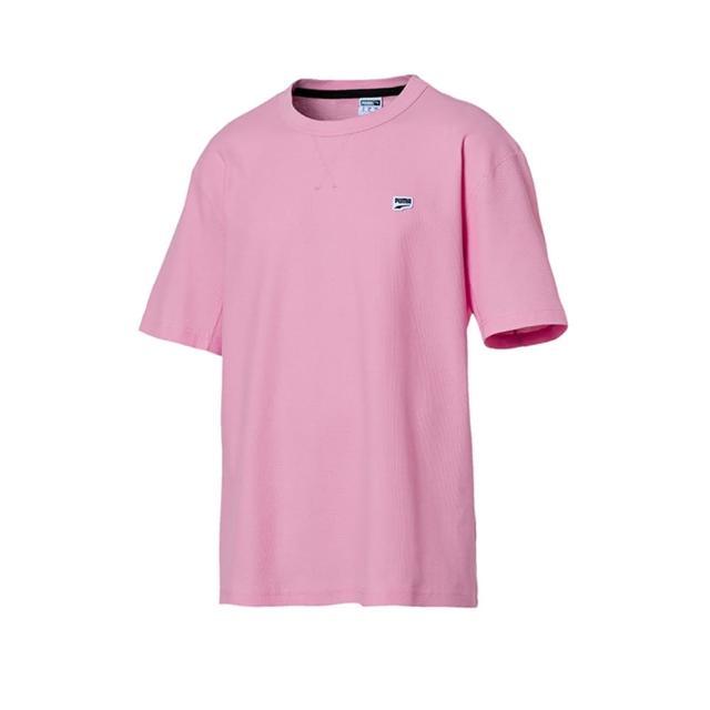 【PUMA】上衣 男款 短袖上衣 運動 慢跑 粉 57830821(歐規)