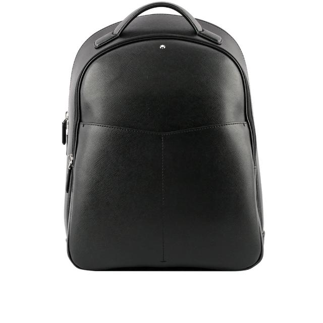 【MONTBLANC 萬寶龍】匠心系列防刮牛皮小型後背包(黑色)