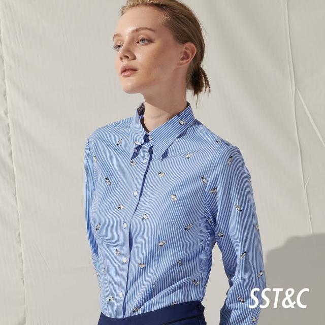 【SST&C開館慶】藍直條兔子印花襯衫7562105005