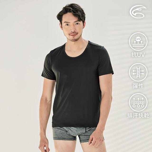 【ADISI】男Tactel Pro短袖快乾排汗圓領內衣AL2111190(防曬 UPF50+ 抗紫外線 彈性 速乾 透氣 輕量)