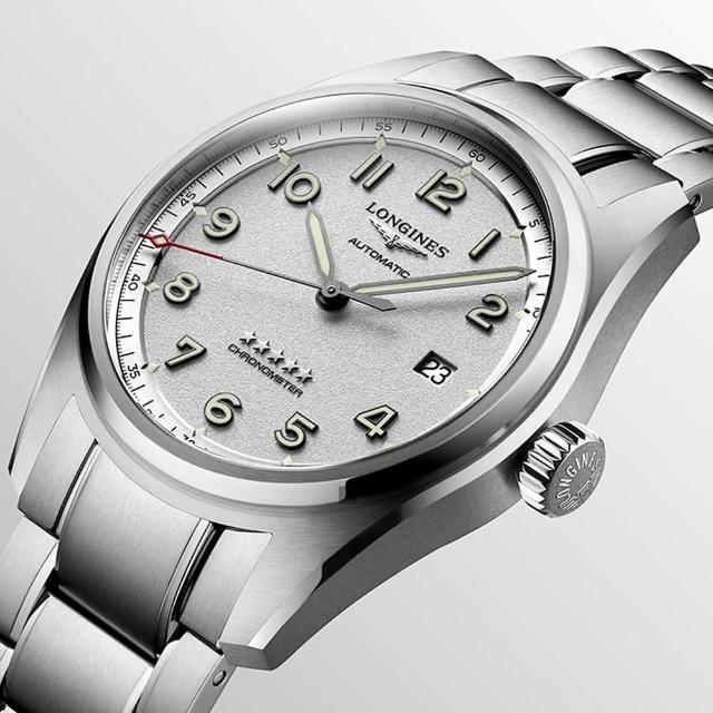 【LONGINES 浪琴】Spirit 先行者系列飛行員機械錶-銀/42mm(L38114736)