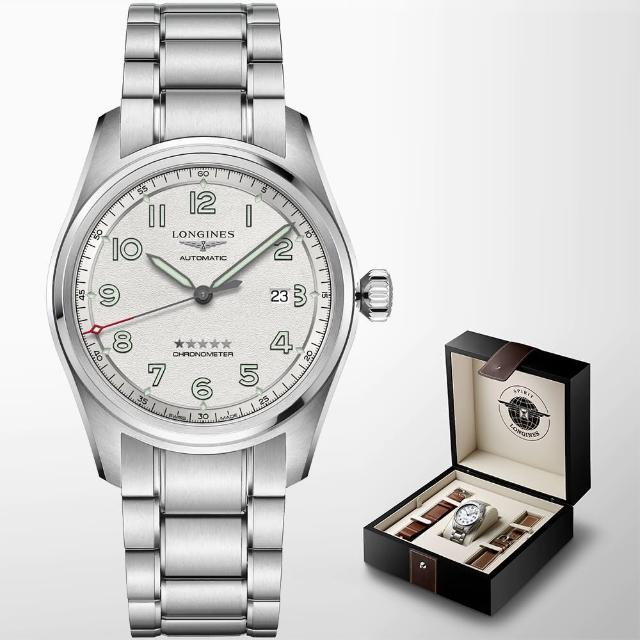 【LONGINES 浪琴】Spirit 先行者系列飛行員機械錶 套錶-42mm(L38114739)