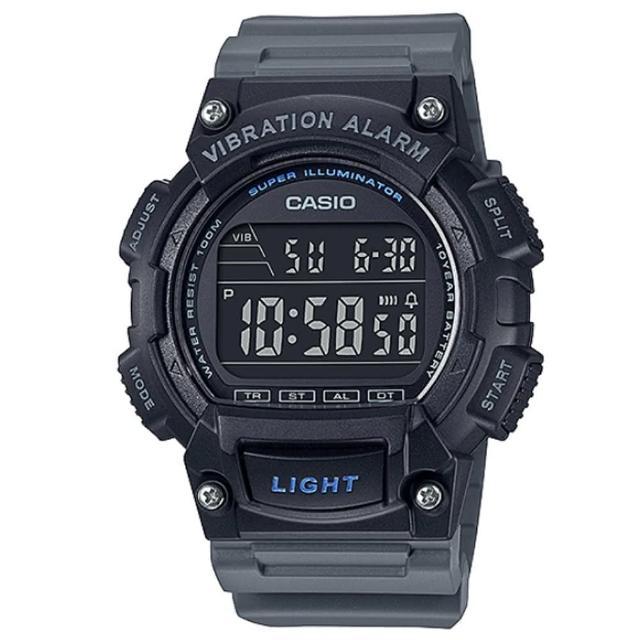 【CASIO 卡西歐】經典圓形懷舊風格LED防水電子錶(W-736H-8B)