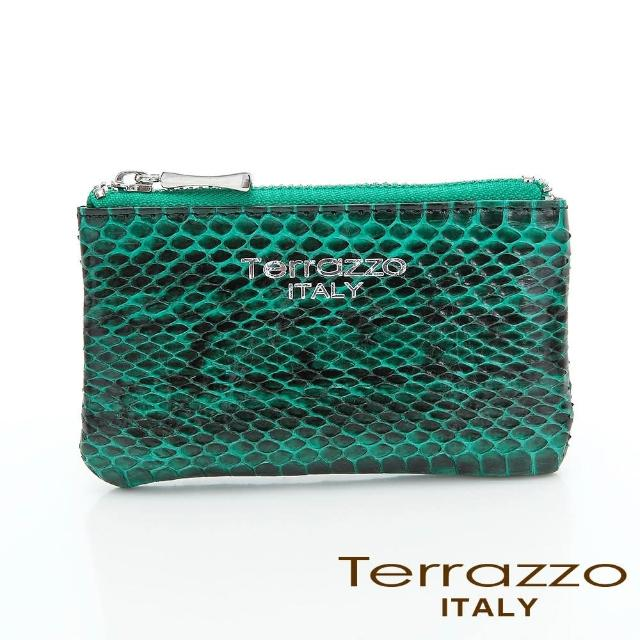 【LouiseC.】Tree House 時尚蛇皮零錢鑰匙包-綠色(75S1802A10305)