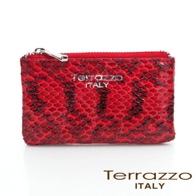 【LouiseC.】Tree House 時尚蛇皮零錢鑰匙包-紅色(75S1802A10107)