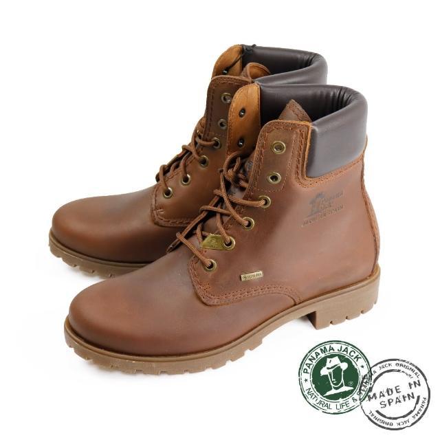 【Panama Jack】復古刷色綁帶厚底中筒靴 棕色(P0402W-CUE)