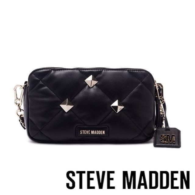 【STEVE MADDEN】BDOUBLEZ 壓紋金飾相機包(黑色)