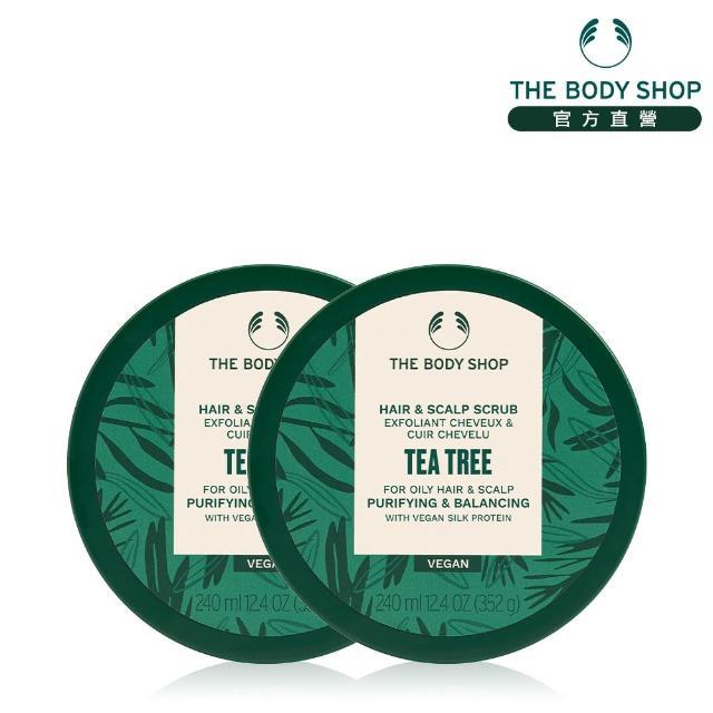 【THE BODY SHOP 美體小舖】綠茶淨化頭皮去角質洗髮霜2入組(綠茶淨化頭皮去角質洗髮霜240ML*2)