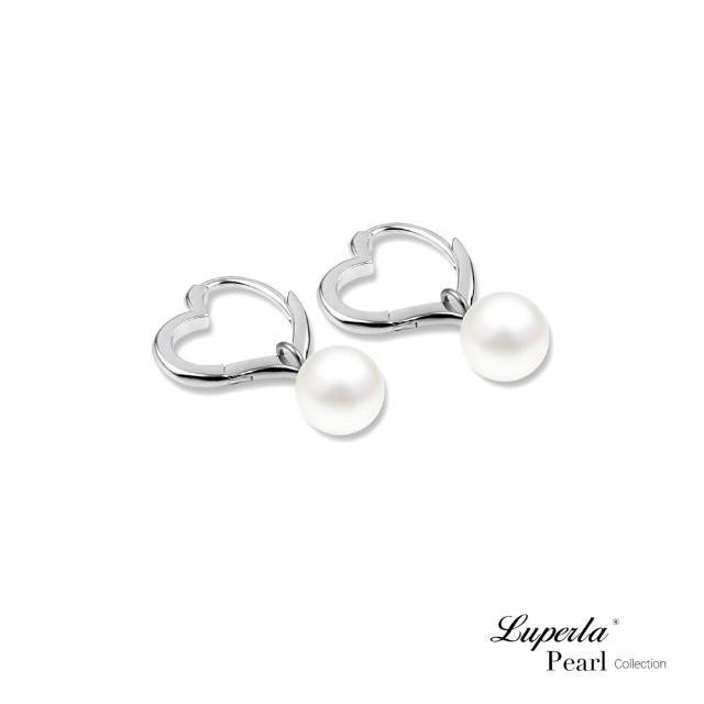 【大東山珠寶】情深系列 許願心型 日本海水珍珠耳環 925純銀 6-7mm(日本Akoya珍珠)