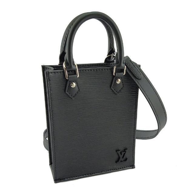 【Louis Vuitton 路易威登】黑色EPI麥穗壓紋牛皮手提斜背兩用Mini 琴譜包(展示品)
