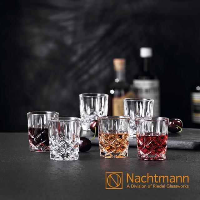 【Nachtmann】經典貴族雕刻烈酒杯(6入組)