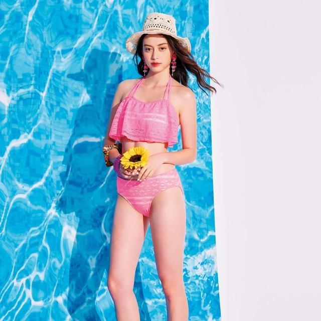 【SAIN SOU 聖手牌】比基尼造型二件式泳裝附泳帽(A922105)