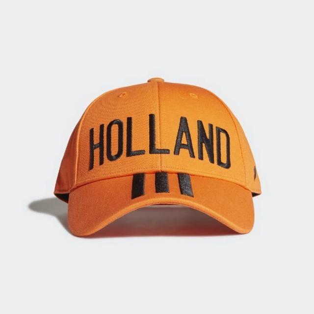 【adidas 愛迪達】CF BB CAP NETH 男款 女款 荷蘭 帽子 橙(FJ0996)