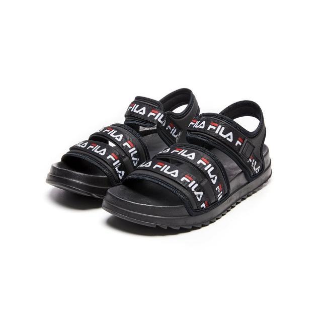 【FILA】男女款 拖鞋 DRIFTER TRAIL涼鞋-黑(1-S132V-013)
