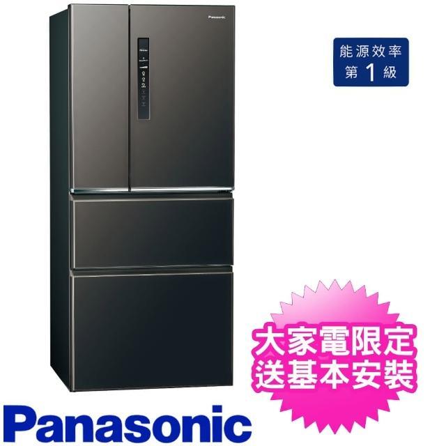 【Panasonic 國際牌】610公升四門變頻電冰箱絲紋黑福利品(NR-D611XV-V)