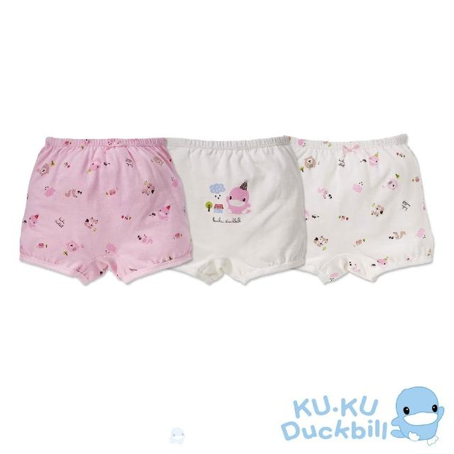 【KU.KU. 酷咕鴨】巧巧帽女童四角內褲(3入組)