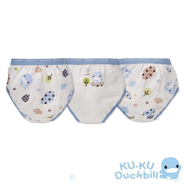 【KU.KU. 酷咕鴨】星星雲男童三角內褲(3入組)