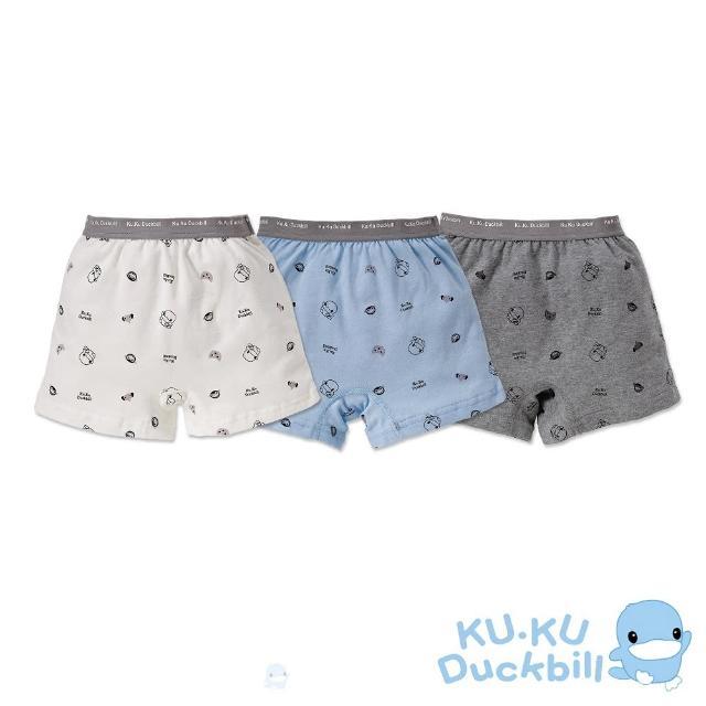【KU.KU. 酷咕鴨】嗶嗶猴男童四角內褲(3入組)