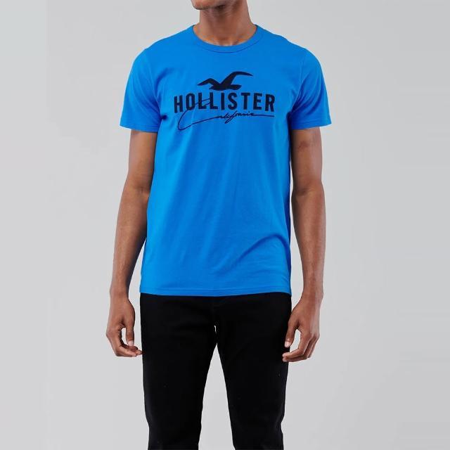 【HOLLISTER Co】Hollister 經典刺繡大海鷗圖案短袖T恤-寶藍色